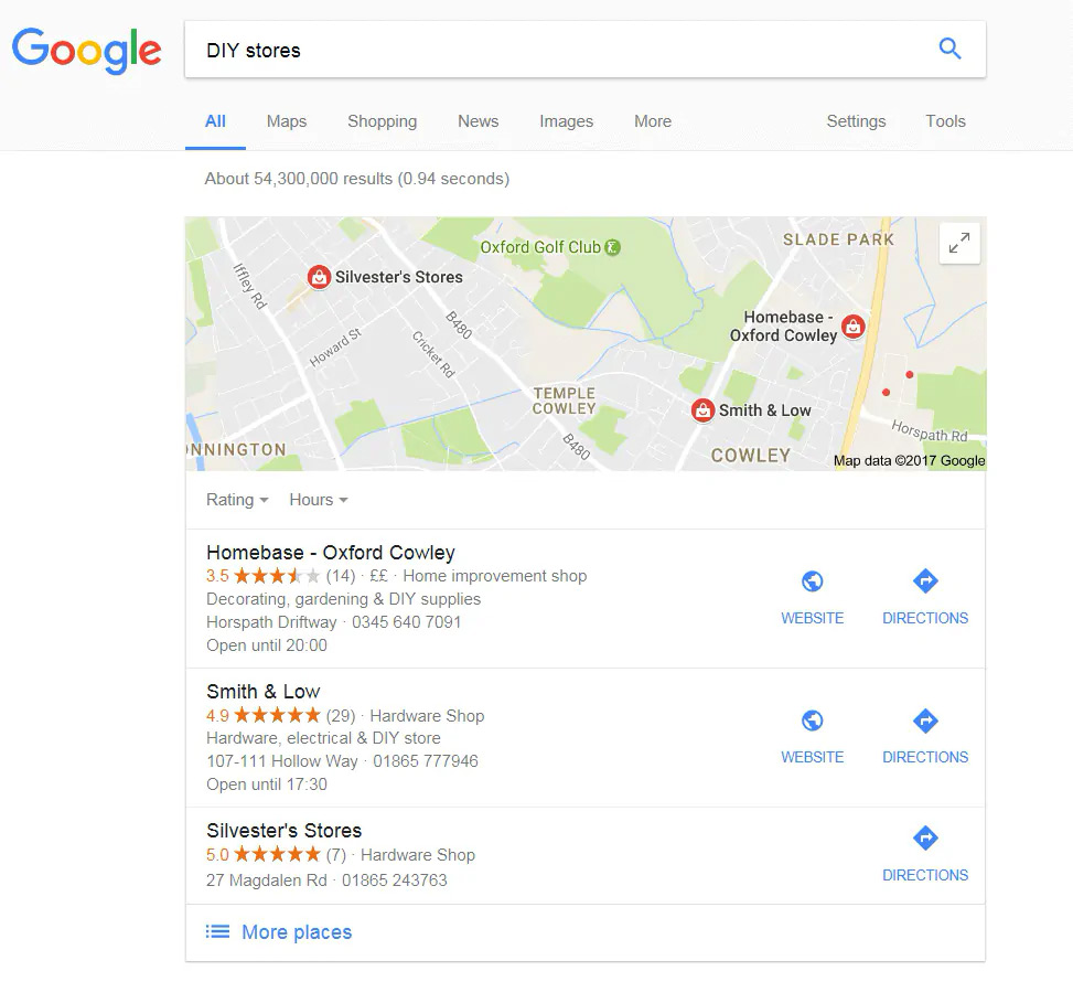 local SEO example maps 1