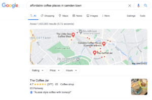 Affordable Coffee Places in Camden Town